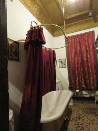 Famous two person bathtub at Miss Hattie's Bordello