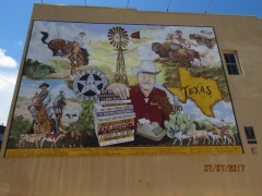 Elmer Kelton, San Angelo Author's Mural