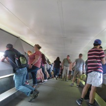 Inside the top of the arch.